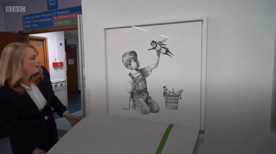 Banksy's beautiful tribute to NHS healthcare workers